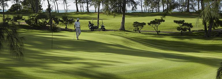 Terrain de golf à l'île Maurice