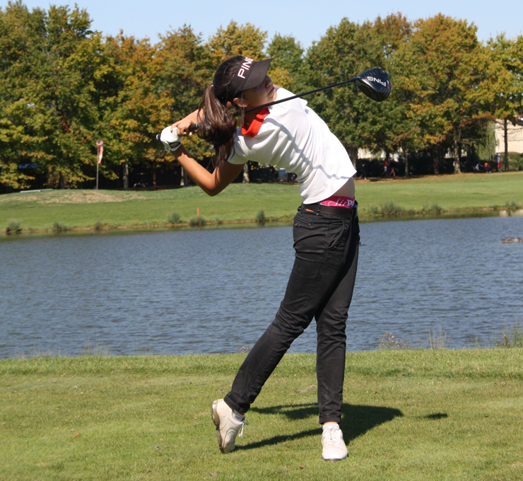 femme golfeuse recherche